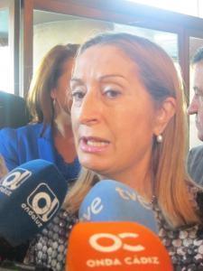 Ana Pastor en declaraciones a los medios