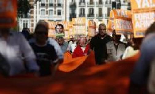 """Un millar de afectados de Fórum y Afinsa piden ante el Congreso que el acuerdo no quede en """"un brindis al sol"""""""