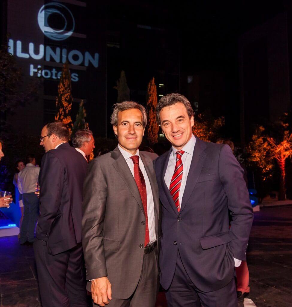 Alejandro Oñoro, consejero delegado del Grupo ILUNION y el director general de ILUNION Hotels, José Ángel Preciados.