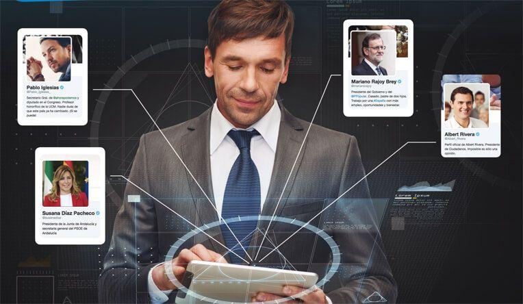 Los políticos se ven obligados , cada vez más, a estar interactuar en las redes sociales y apostar por ellas desde un principio