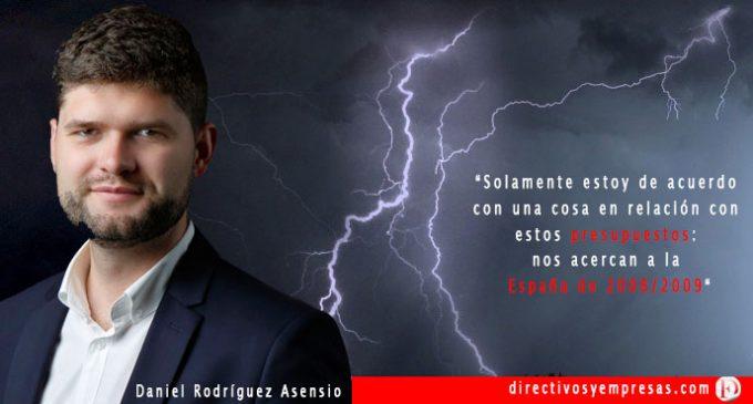"""Daniel Rodríguez Asensio: """"Los presupuestos demuestran que necesitamos elecciones ya»"""