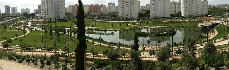 Parque urbano inundable.