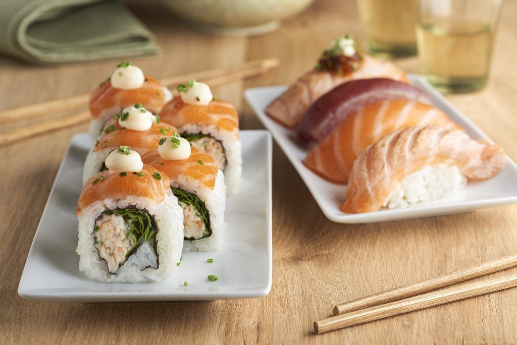 Sushi de salmón de Instamaki