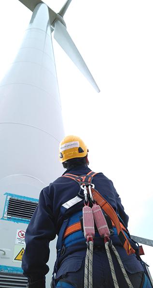 La prevención en la energía eólica y solar.