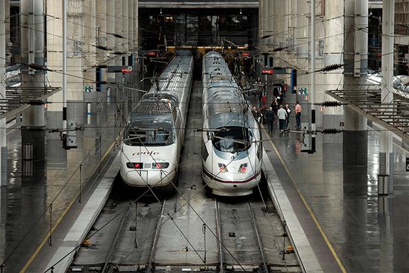 Alta velocidad del sector ferroviario
