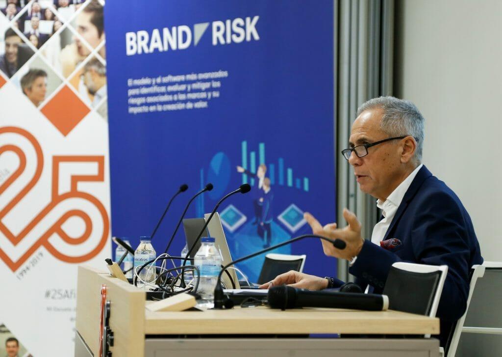 Victor Mirabet en la presentación de Brand Risk.