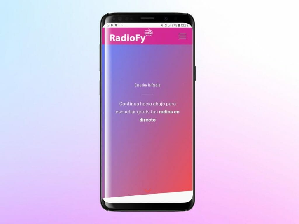 RadioFy app Android.
