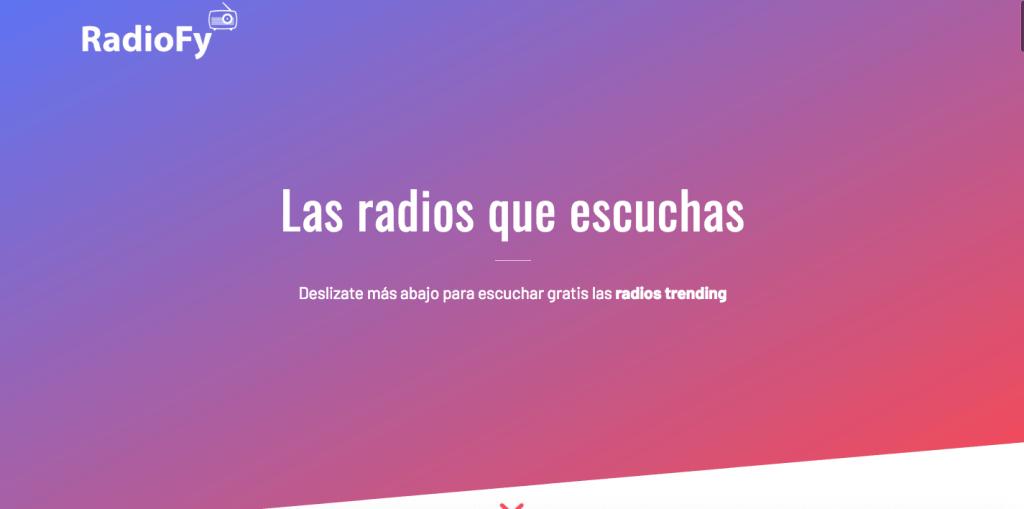 RadioFy en la web.