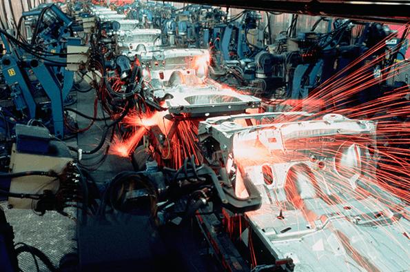 Cadenas de producción en China.