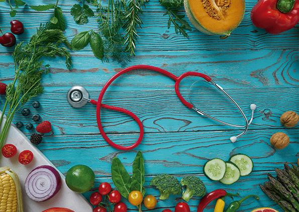 Alimentación saludable para prevenir infartos.