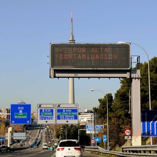 Movilidad de Madrid y contaminación en el ambiente.