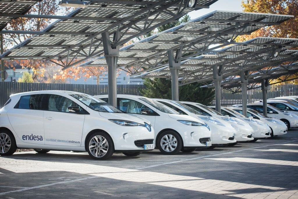 Flota de vehículos eléctricos de Endesa.