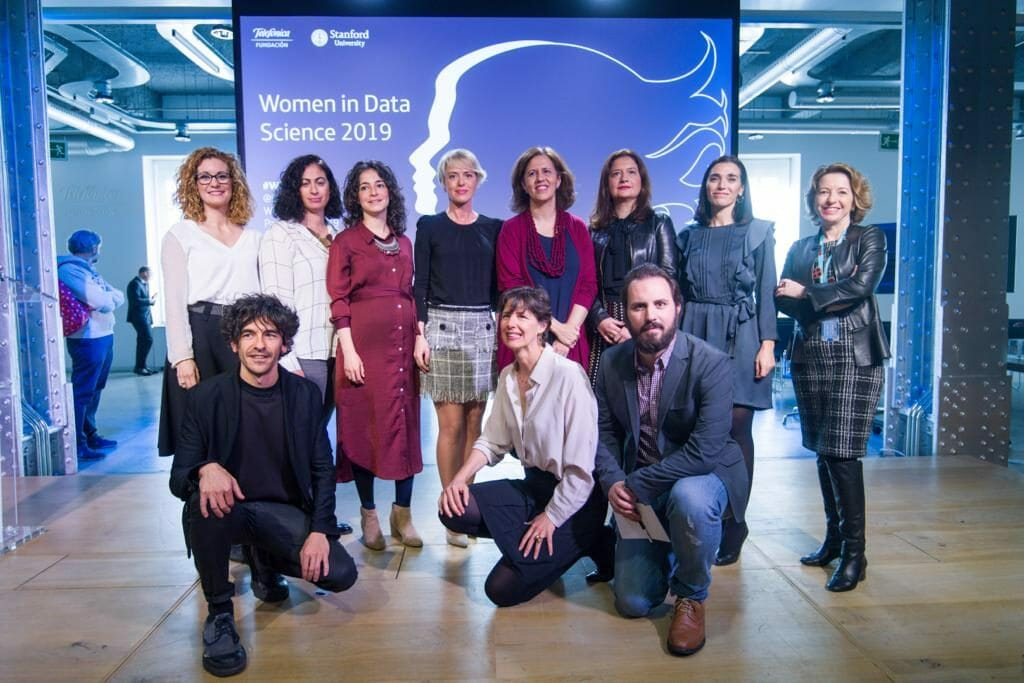 Ponentes de la Conferencia Women in Data Science en Madrid.
