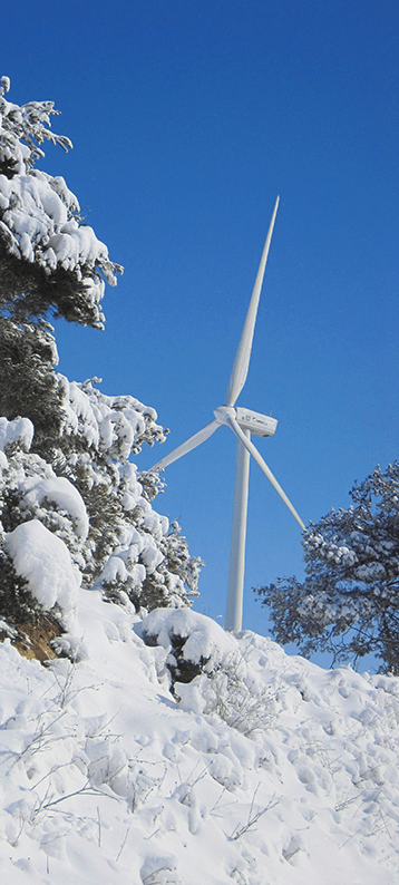 Molino de energía eólica.