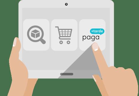 Paga+Tarde de Pagantis ofrece crédito al consumidor para las compras.