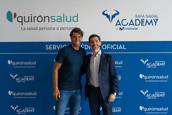 Acuerdo entre Quirónsalud y Rafa Nadal Academy by Movistar.