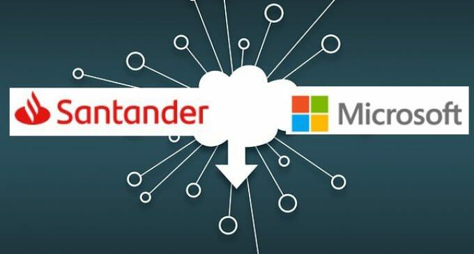 Microsoft acuerda con Santander facilitar su transformación bancaria