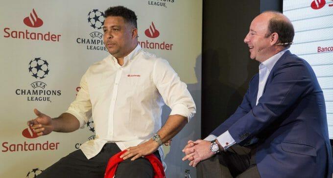 Banco Santander vive a lo grande 'su' primera final de la Champions League
