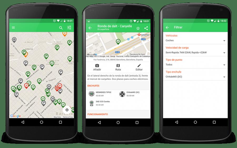 Electromaps, app para localizar puntos de recarga para vehículos eléctricos.