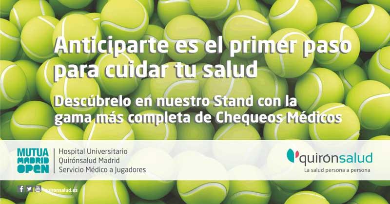Quirónsalud, servicio medico del Mutua Madrid Open.