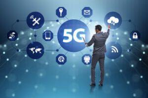 Tecnología 5G en Banco Santander.