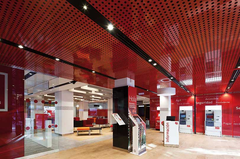 Oficinas Smart Red de Banco Santander.