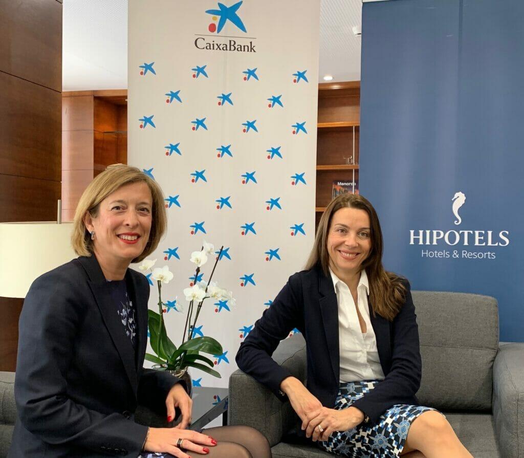 María Cruz Rivera (CaixaBank) con Maria Antonia Llull (Hipotels).