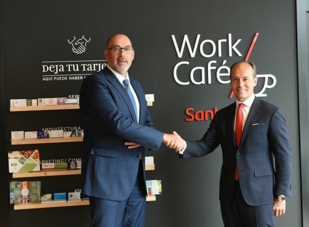 Santander y Telefónico firman un acuerdo para trabajar el 5G en el negocio bancario.