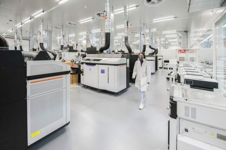 Centro de Impresión 3D de HP en Barcelona.
