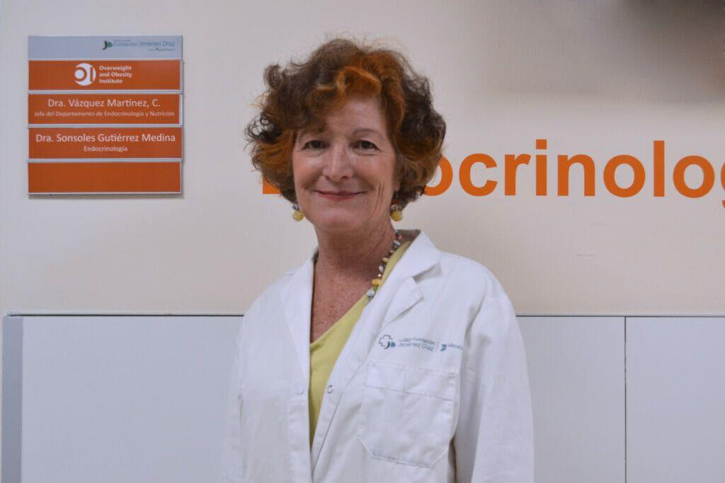 Dra. Clotilde Vázquez, jefa del Servicio de Endocrinología y Nutrición de la Fundación Jiménez Díaz y directora del Instituto de Sobrepeso y Obesidad.