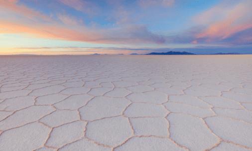 Salar de Uyuni, al sur de Bolivia.