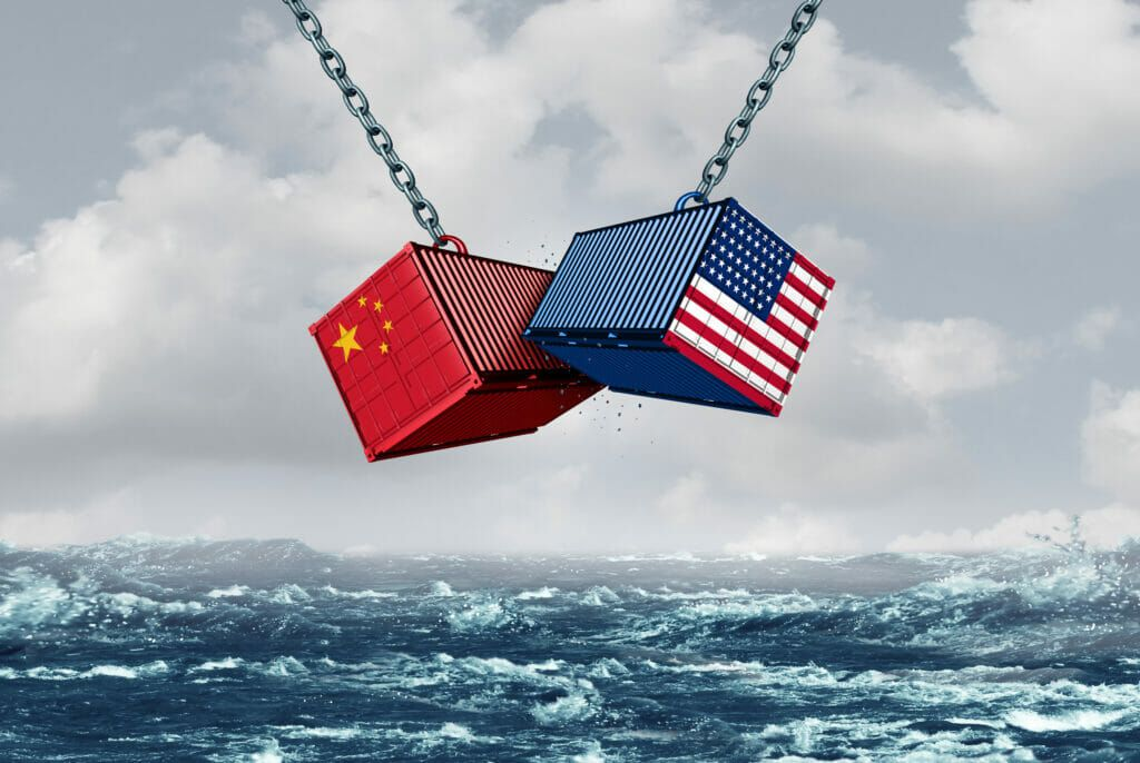 Tensiones comerciales entre Estados Unidos y China.