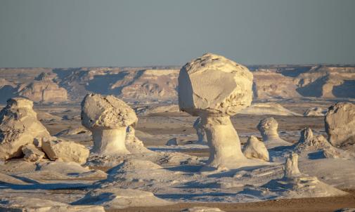 El desierto blanco de Egipto.