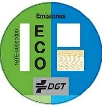 Los vehículos movidos por gas tienen la etiqueta ECO de la DGT.