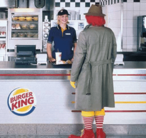 publicidad comparativa burger king vs. McDonalds´s.