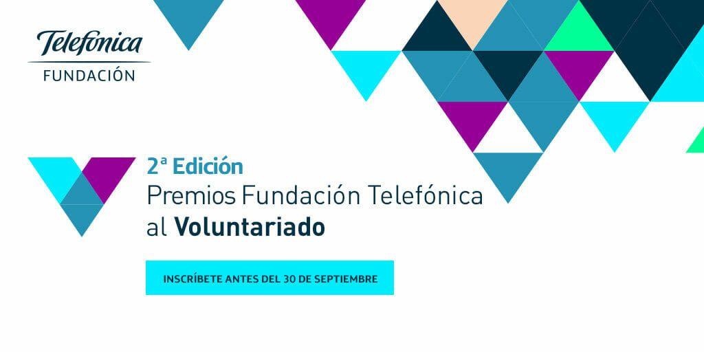 Abierta la convocatoria de los II Premios Fundación Telefónica al Voluntariado.