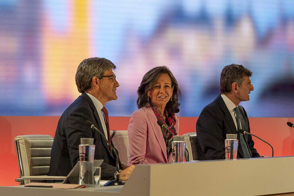 Ana Botín durante el Investor Day de Santander.