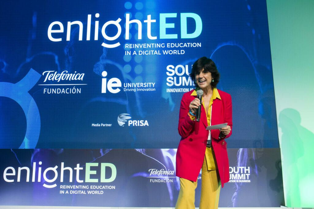 Maria Benjumea durante el South Summit 2018.