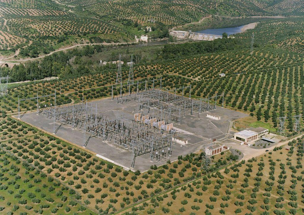 Subestación eléctrica de Endesa.