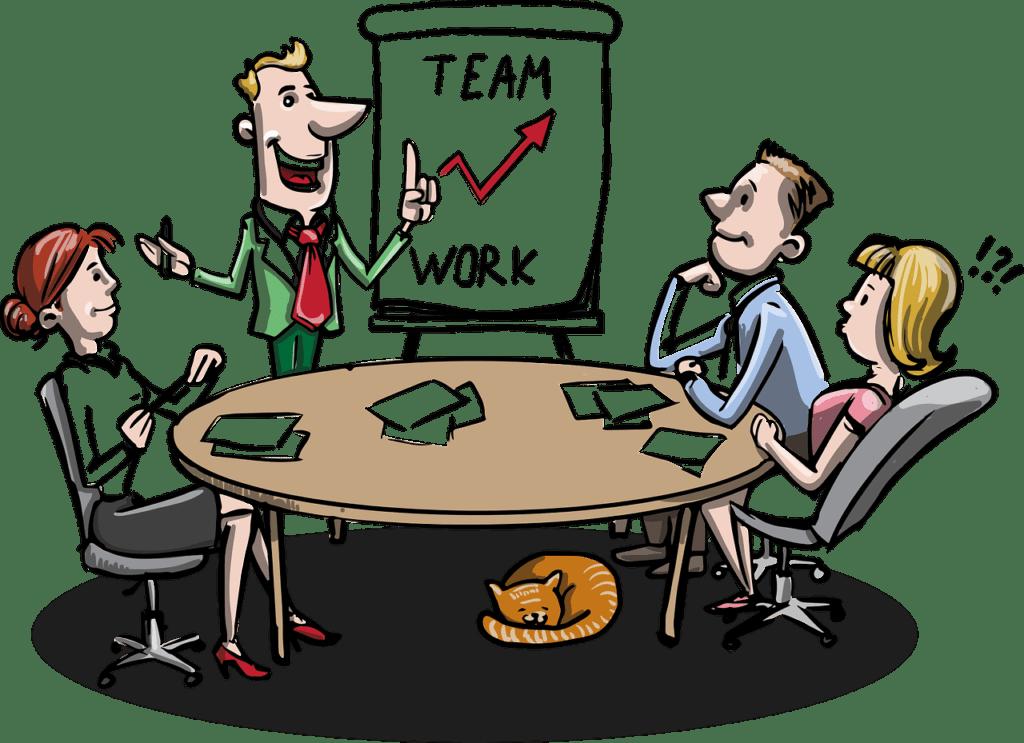 Tono empleado en una reunión de trabajo