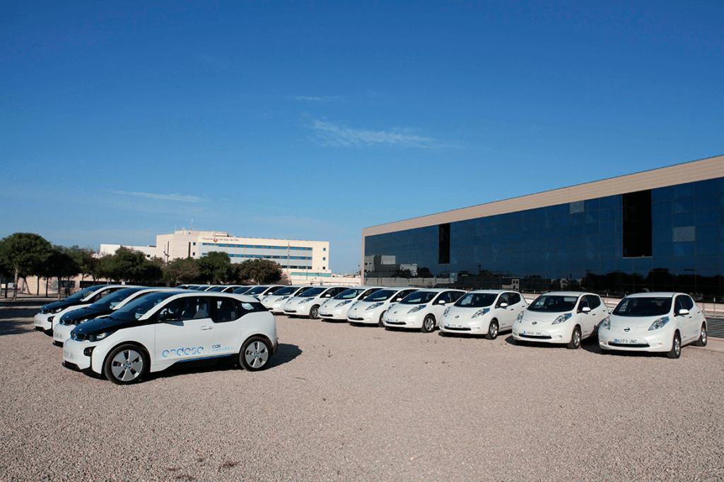 Vehículos eléctricos de Endesa.