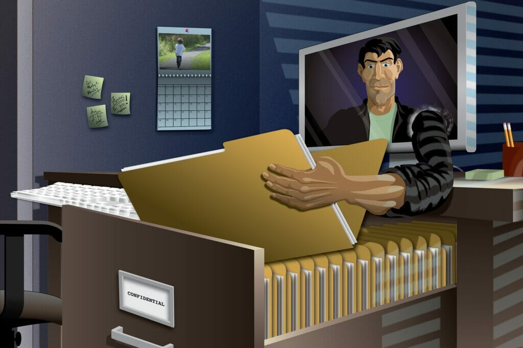 Un fraude muy común es el robo de identidad en las empresas.