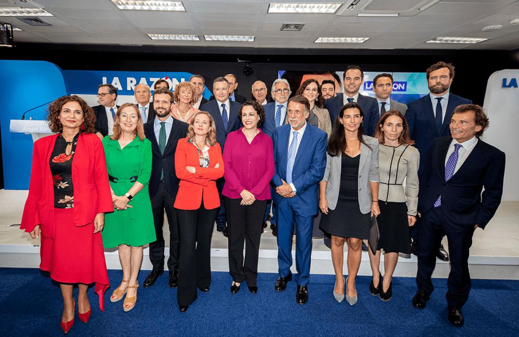Políticos asistentes en la charla de Angel Simón en La Razón.