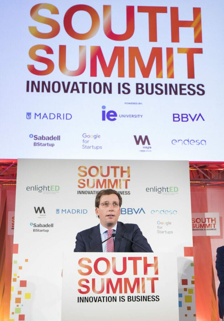 Martínez Almedia en el South Summit 2019.