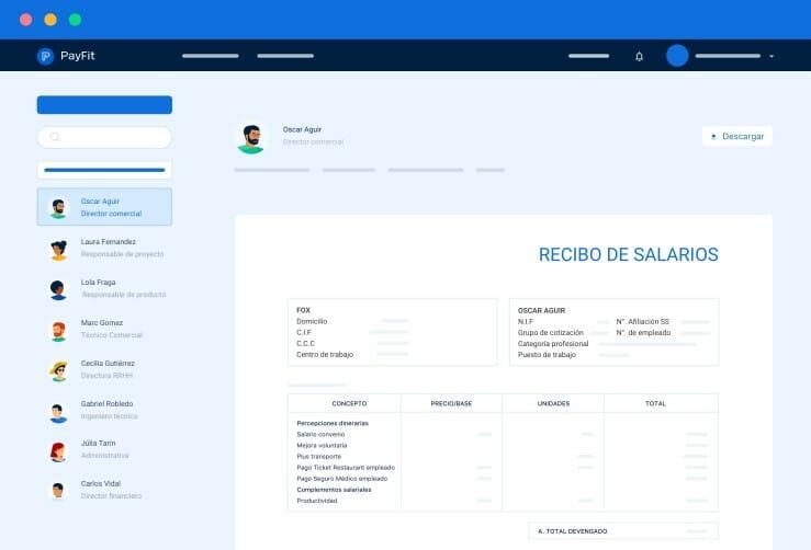 gestión de nóminas PayFit.