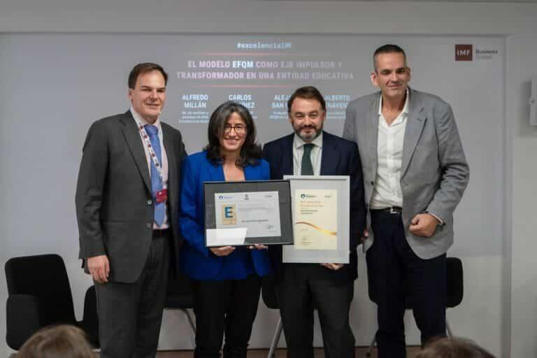 IMF Business School única escuela de negocios del mundo con el Sello de Excelencia Europea EFQM 500+