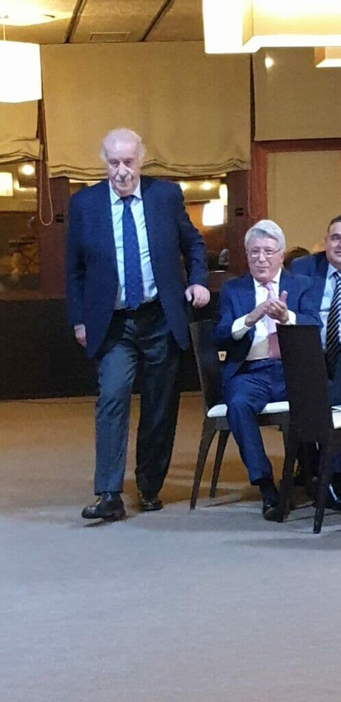 Vicente del Bosque y Enrique Cerezo en los Premios EPF.