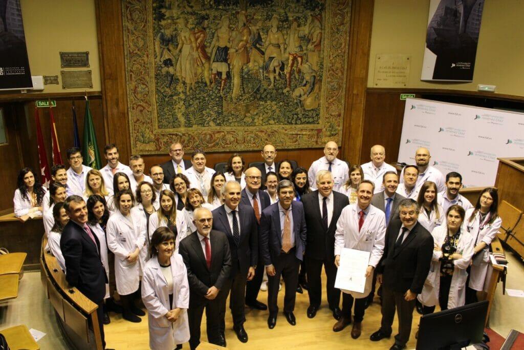 El equipo de Oncohealth Institute es acreditado por su calidad asistencial.