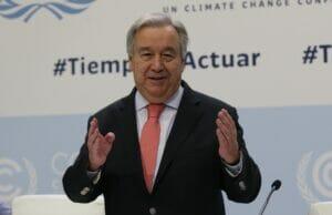 António Guterres ONU en la COP25 de Madrid.