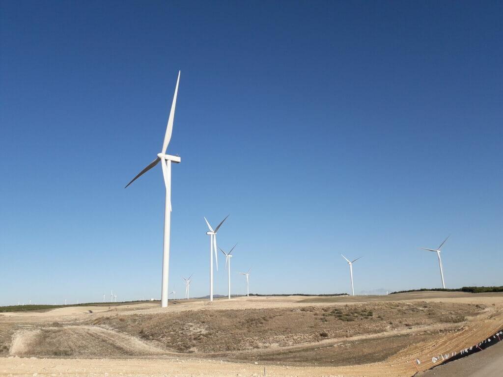 parque eólico de Villamayor de Gállego en Zaragoza